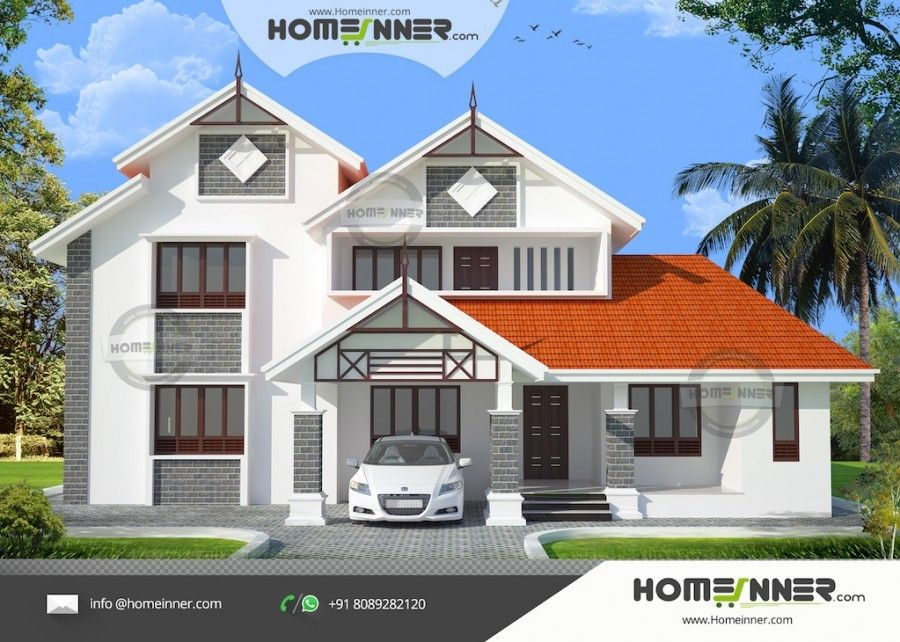 2720 sq ft 4 Bedroom South Indian House Design Plans | Indian house ...