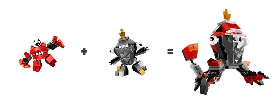 Lego Mixels Explore Mix Max Murp Vulk Shuff Mix 4 Trip