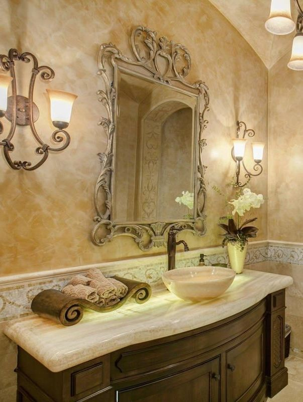 powder room Bathrooms Pinterest Powder room, Room and Tuscany