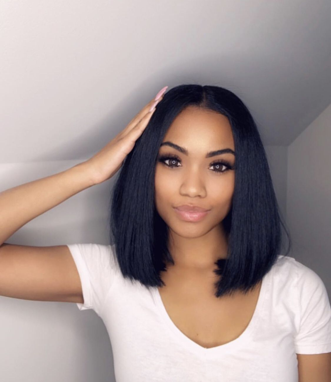 Rabake Straight Lace Front Human Hair Wigs Pre Plucked