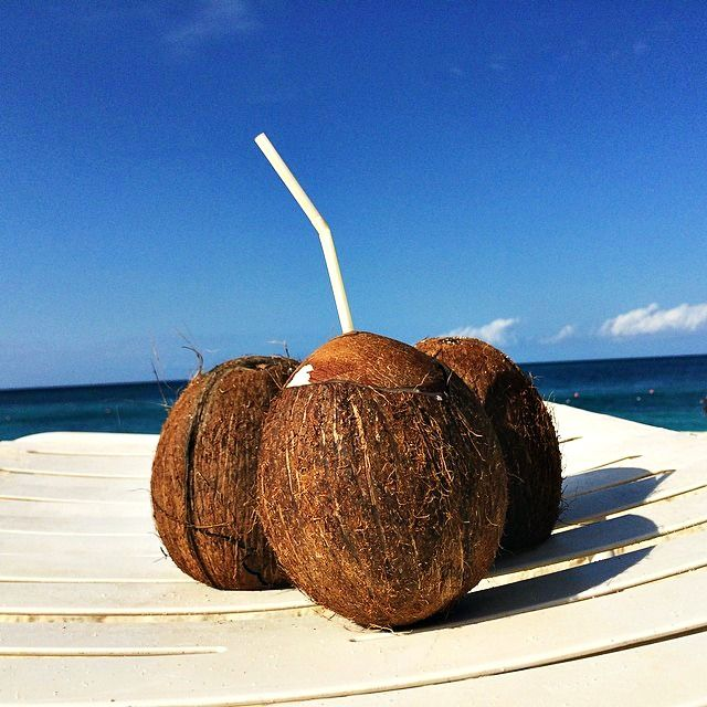 Drinking Out Of A Coconut Is Must On Vacation Pinned To The