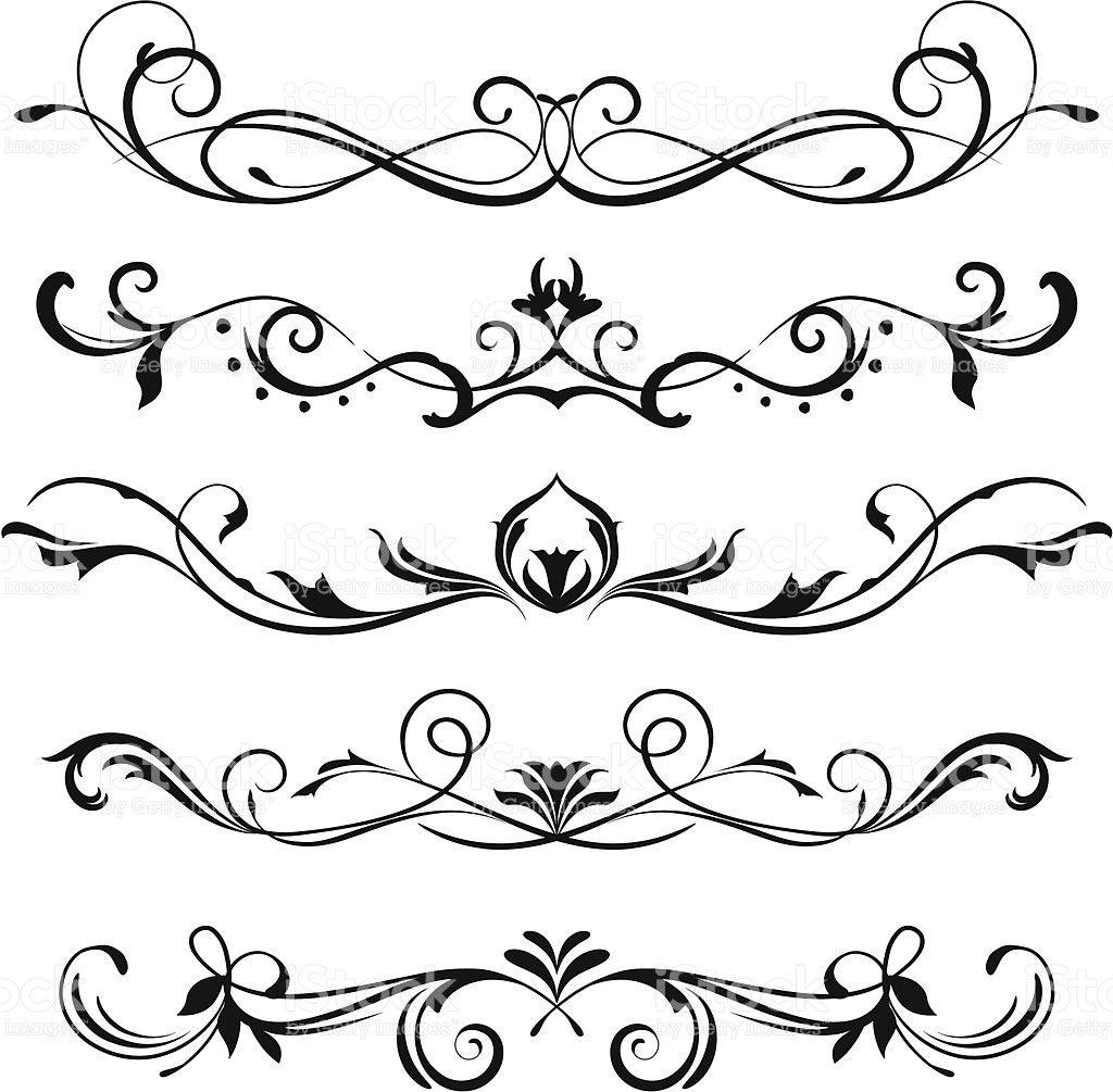 a various scroll designs fonts scroll design design decoupage