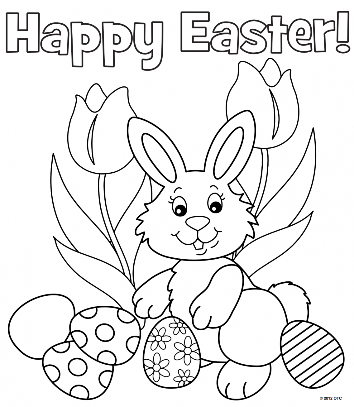 Printable easter colouring pages color me pinterest easter