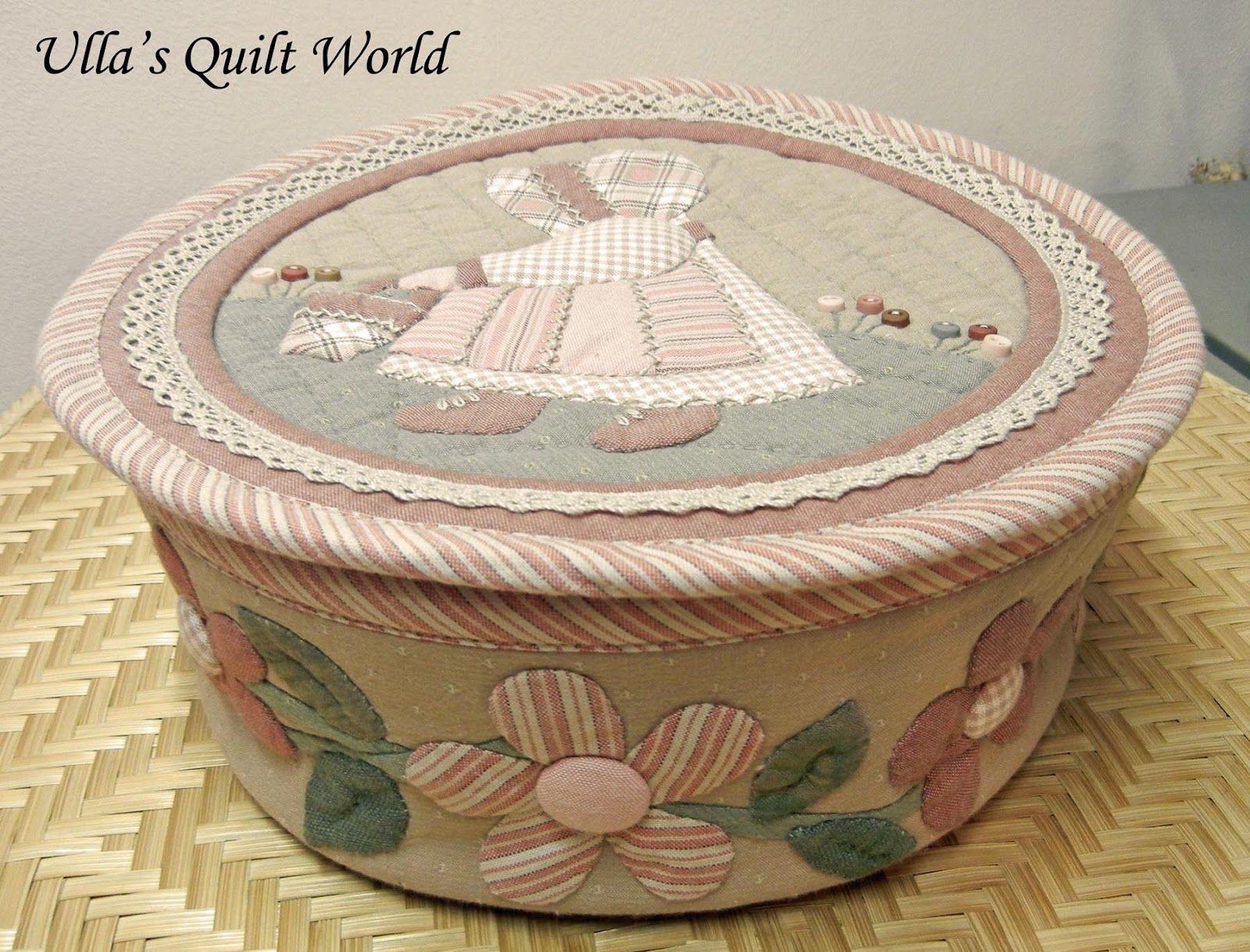Ulla's Quilt World: Sue Bonnet quilt - Small box