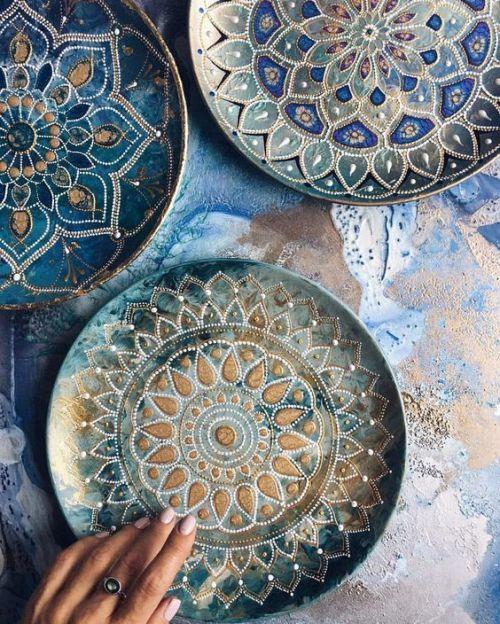 Mándalas hermosos #ceramicpainting