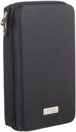 Amazonベーシック ポータブル機器 (カメラ, 携帯電話, GPS など)用キャリングケース ブラック
