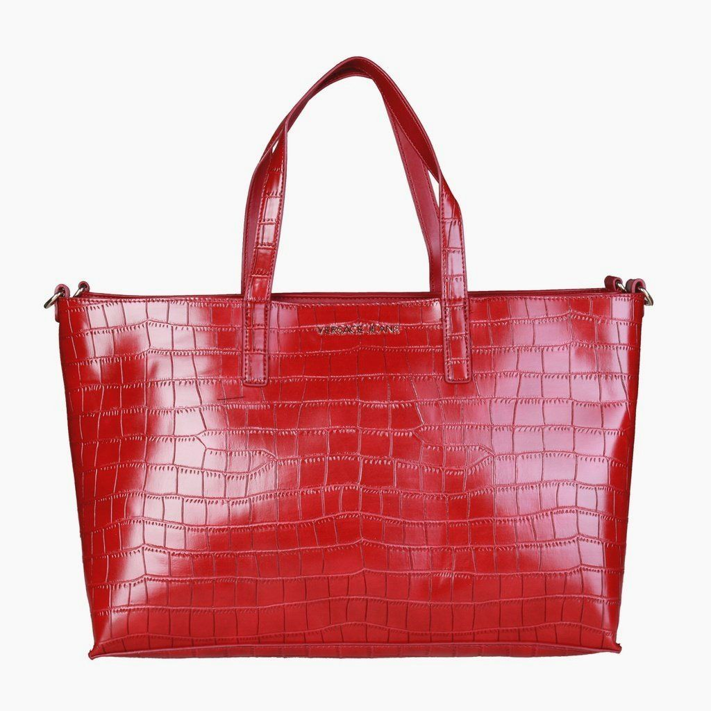 a9b1ff36550f Versace Jeans Lrg Red Tote   C-Clectic-Everything   Versace jeans ...