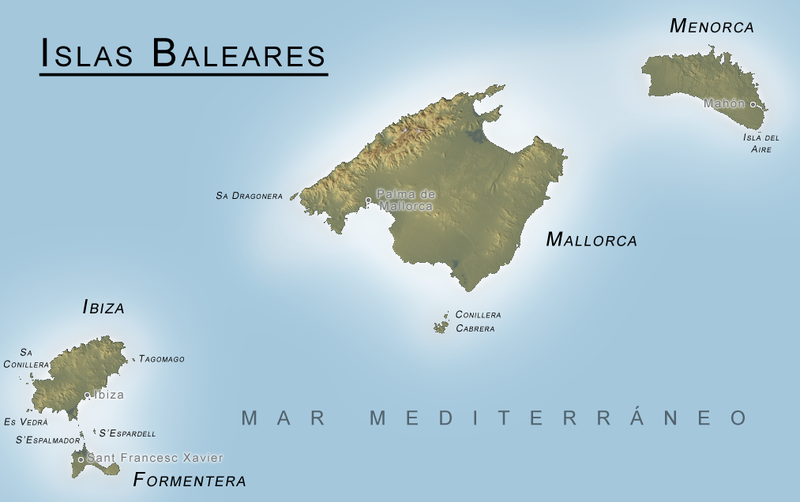 Map of the Balearic Islands Every Country has a Story SZ
