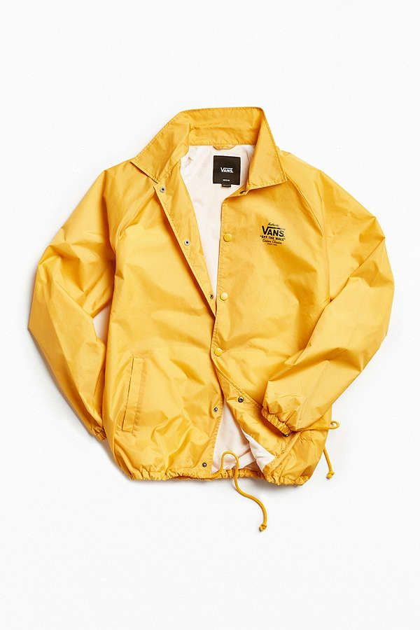 1e55ab487f Slide View  2  Vans Torrey Yellow Coach Jacket size xs