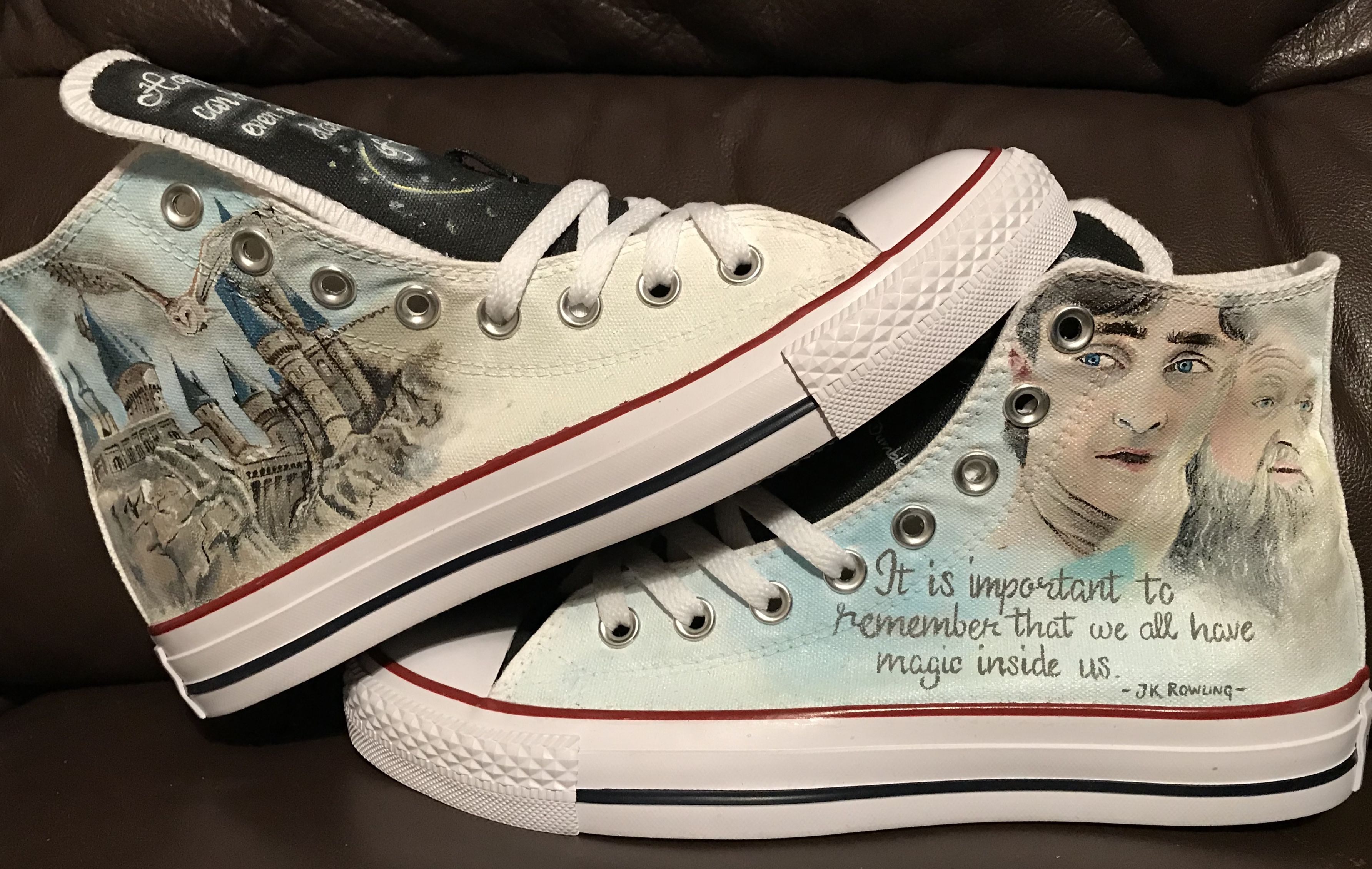 One of my most popular Converse styles to paint, Harry