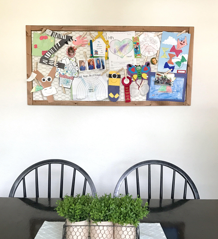 Chicken wire frame, chicken wire display, kids art display, photo ...