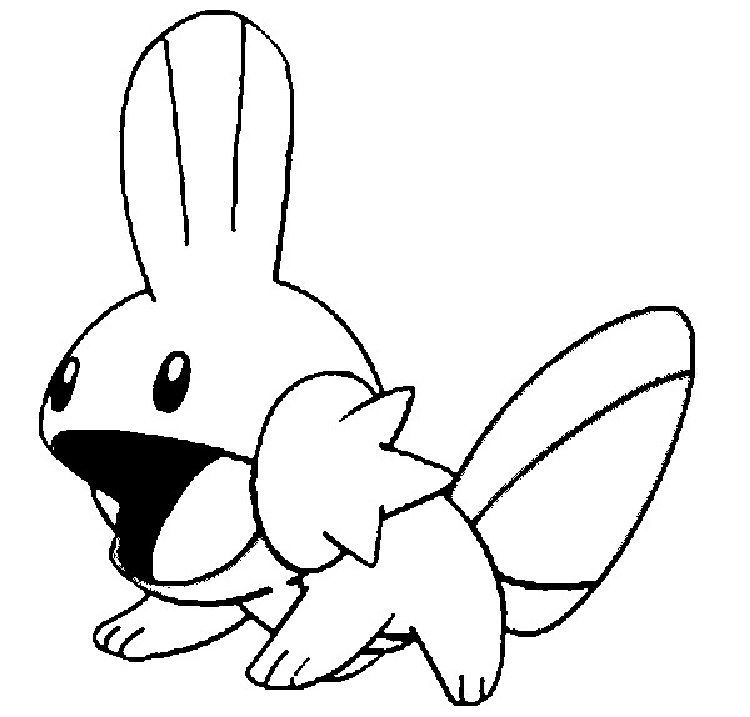 Pokemon Coloring Pages Mudkip With Images Pokemon Coloring