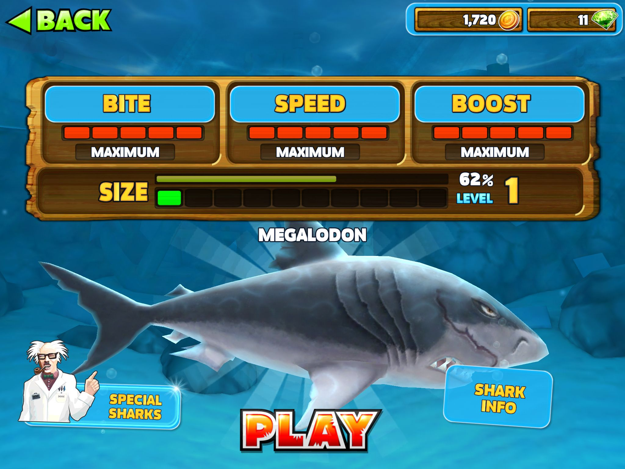 I\'ve unlocked the megalodon on hungry shark evolution | Awesome ...