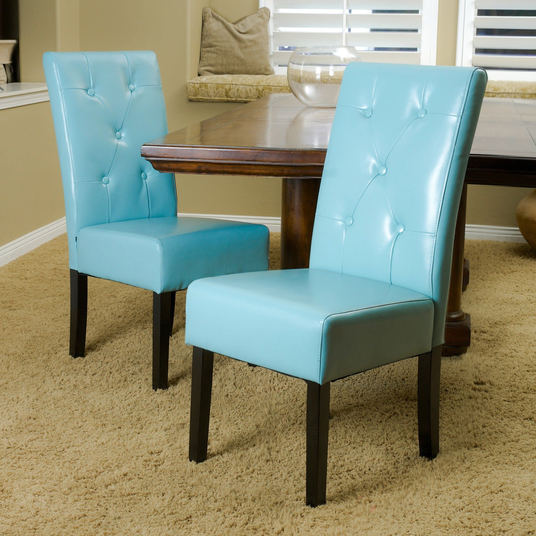 Alexander Bonded Leather Dining Chair Teal Blue In 2021 Leather Dining Chairs Dining Room Teal Dining Chairs