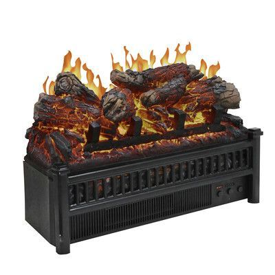 Charlton Home Heintz Electric Fireplace Electric Logs Fireplace