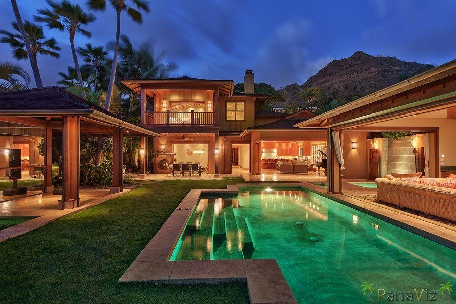 Oceanfront Luxury Vacation Home Diamond Head Oahu Hawaii Luxury Vacation Rentals Celebrity Houses Beautiful Beach Houses Hawaii Life
