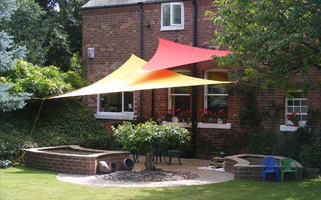 Toldos vela para la decoraci n de terrazas y jardines - Decoracion de patios y terrazas ...