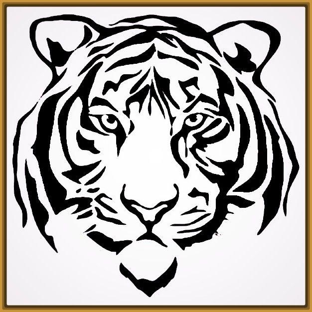 Dibujos De Caras De Tigres Para Colorear Fotos De Tigres Scroll