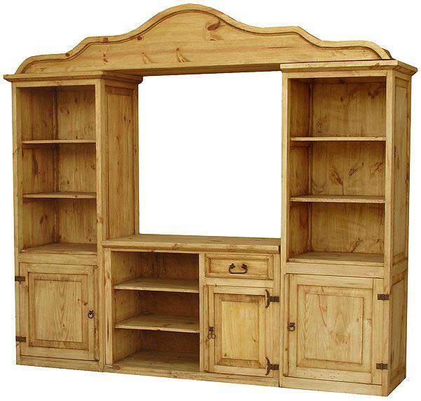 Mexican Rustic Furniture San Antonio Pine Entertainment