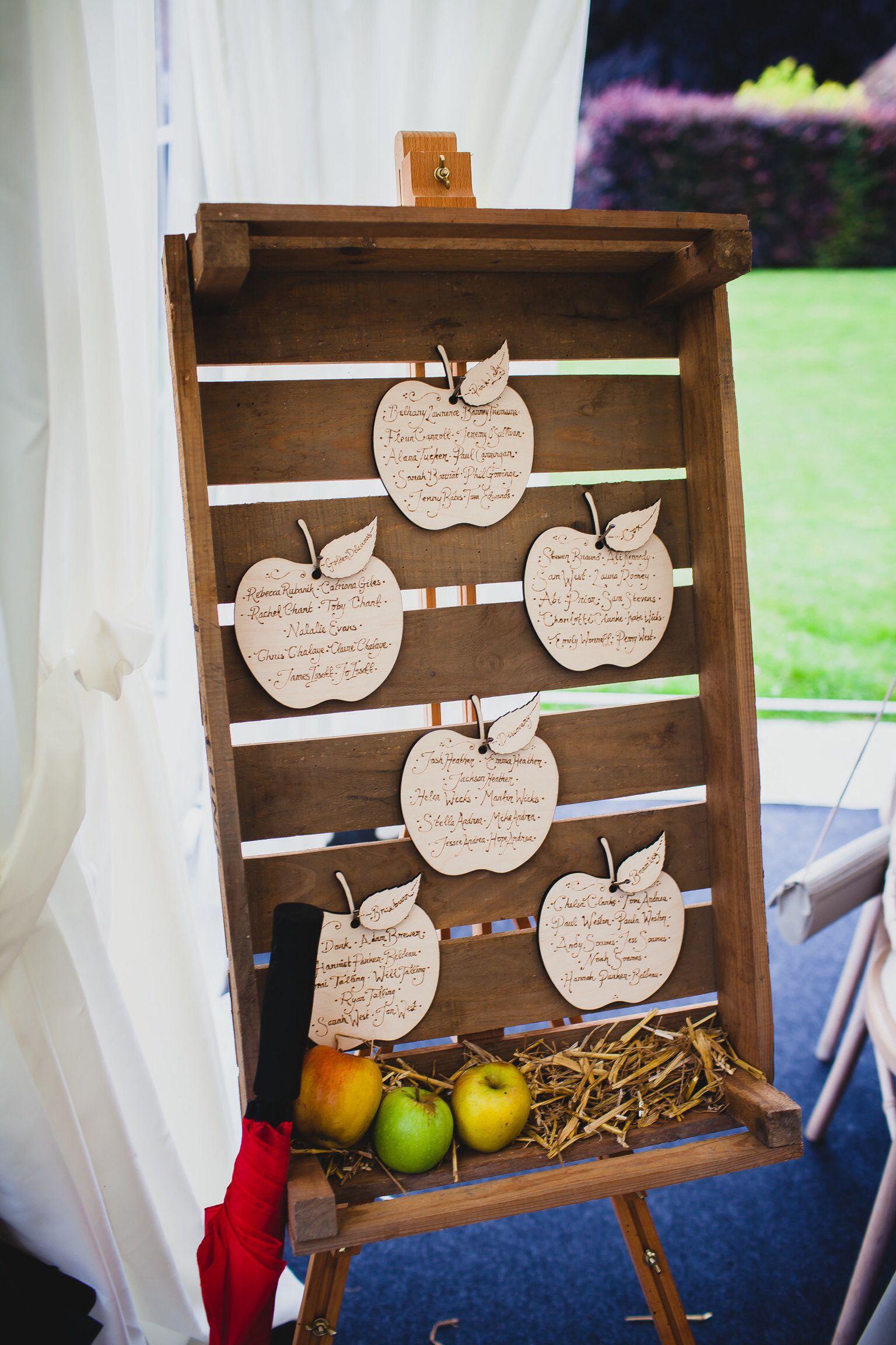 Unique apple table plan