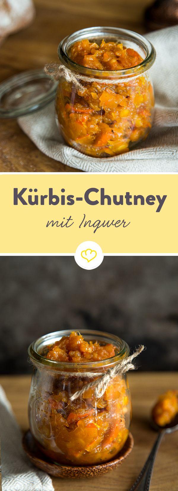 Süß-scharfes Kürbis-Orangen-Chutney mit Ingwer