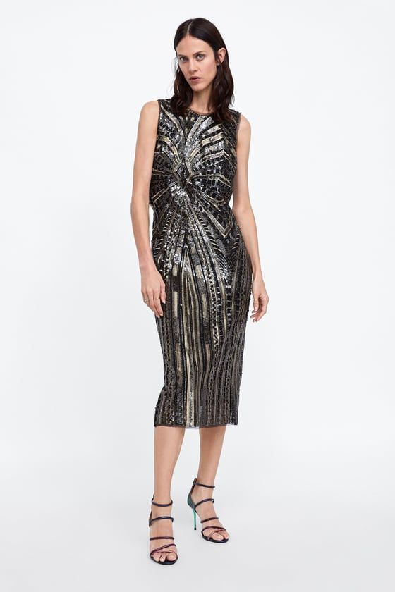 064de31a0c ZARA - WOMAN - TUBE DRESS WITH SEQUINS