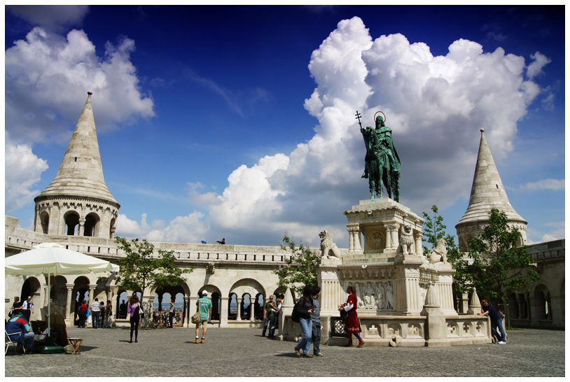The Buda Castle in Budapest, Hungary