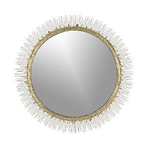 Bathroom Mirrors Crate And Barrel clarendon brass large round wall mirror | walls, crates and small