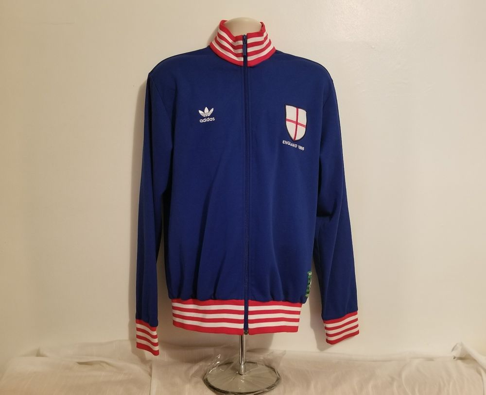 2014e3e96 Rare Vintage Adidas Track Jacket England 1966 World Cup Greatest Moments  Blue XL  Adidas  TracksuitsSweats