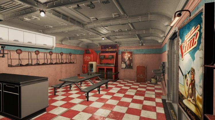 Vault Cafeteria Interior Fallout 4 Settlement Ideas Cafeteria Interior