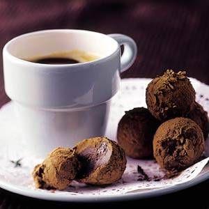 Chocoladetruffels met chili en tijm
