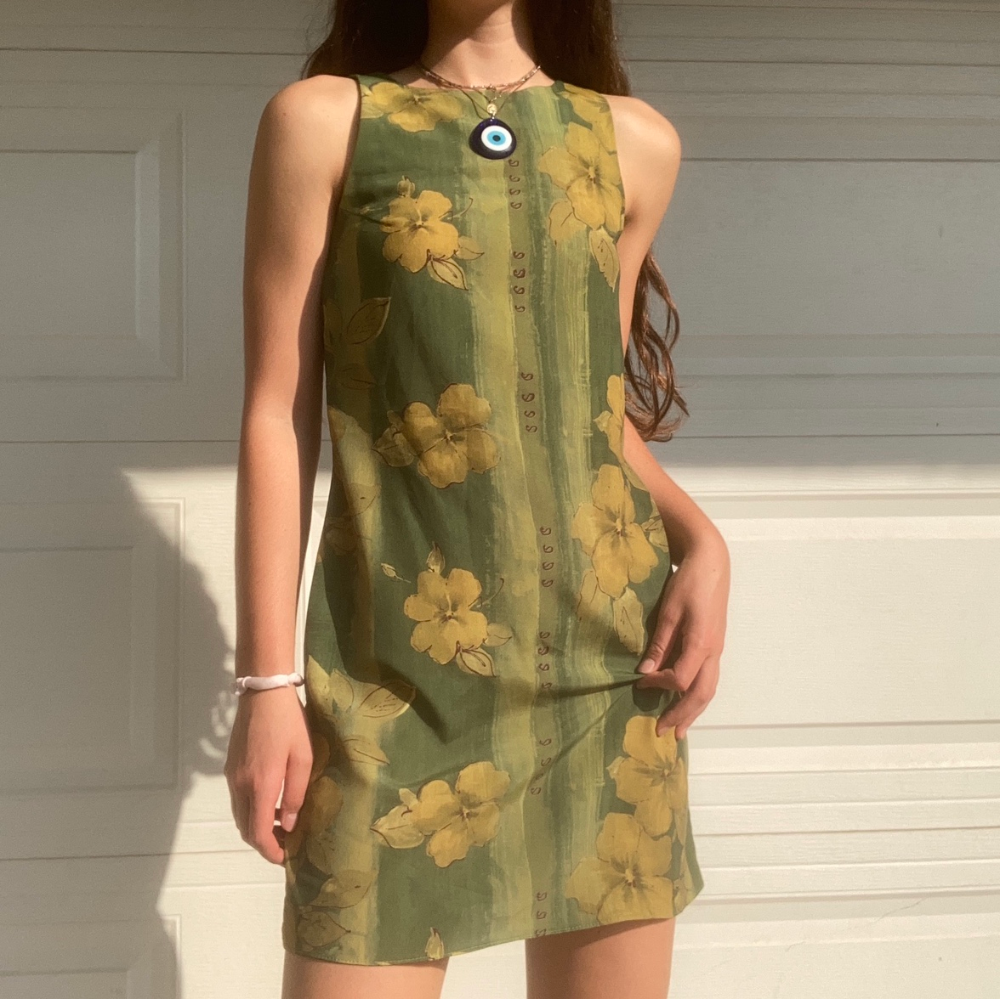 Flower Girl Dress Embroidery y2k Clothing Summer Slip Dress Gift for Her Embroidery Designs  Slip Aesthetic Clothing Kawaii Floral Dress
