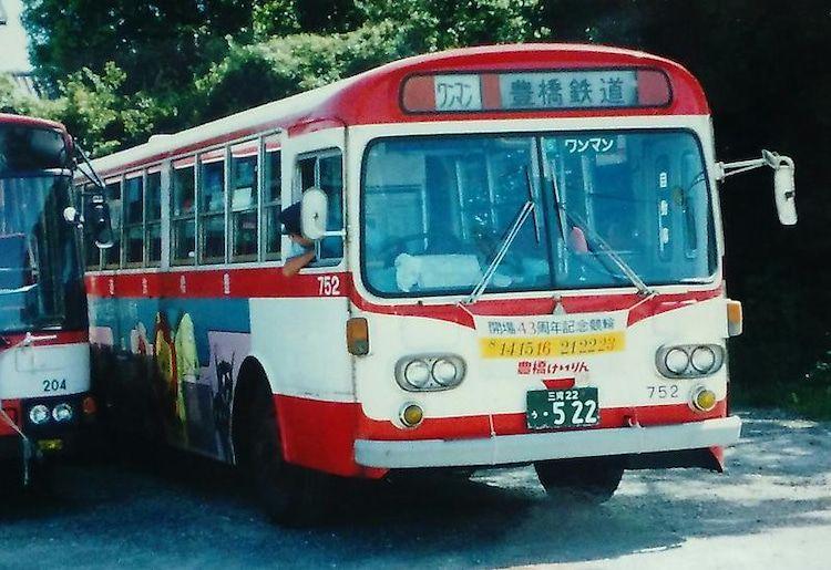 豊橋鉄道 Mp117nの現役時代 バス 路線バス ワゴン車