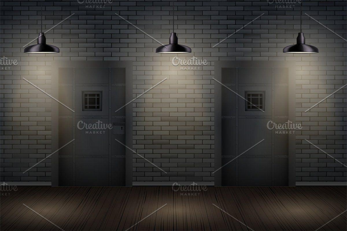 Dark Brick Wall And Prison Or Loft In 2020 Brick Wall Brick Prison