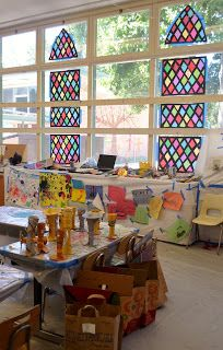 How To Make Your Own Fake Stained Glass Windows Tissue Paper