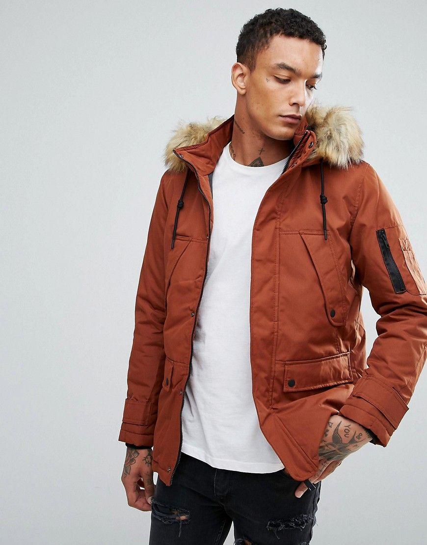 Get This Bershka S Fur Coat Now Click For More Details Worldwide Shipping Bershka Parka With Detachable Fur Hood In Mens Parka Jacket Fur Hood Outdoor Coats [ 1110 x 870 Pixel ]