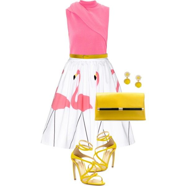 """""""Printed skirt"""" by ivanyi-krisztina on Polyvore"""