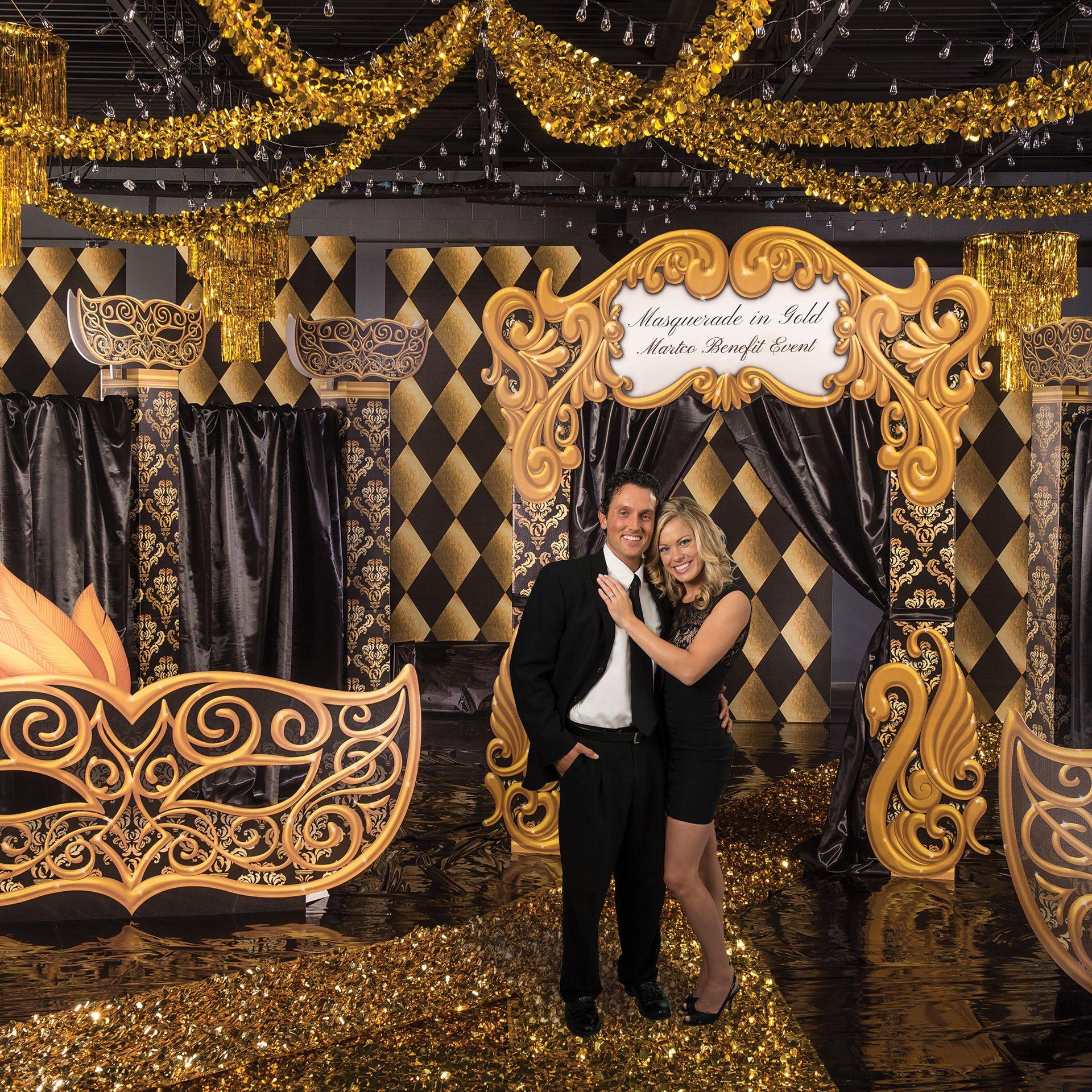 Black And Gold Masquerade Theme Kit Masquerade Theme Masquerade