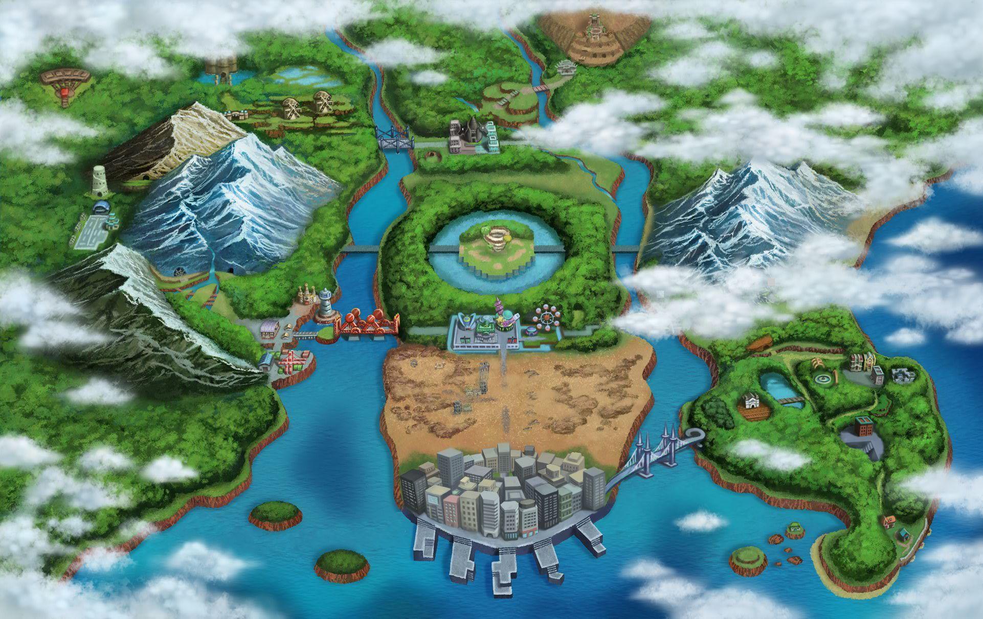Pokemon Map Unova Pokemon Black And White Pokemon White