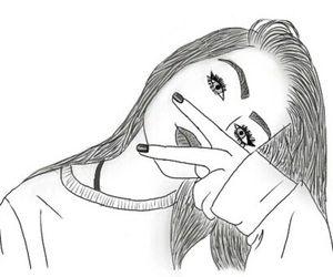 tumblr girl drawing
