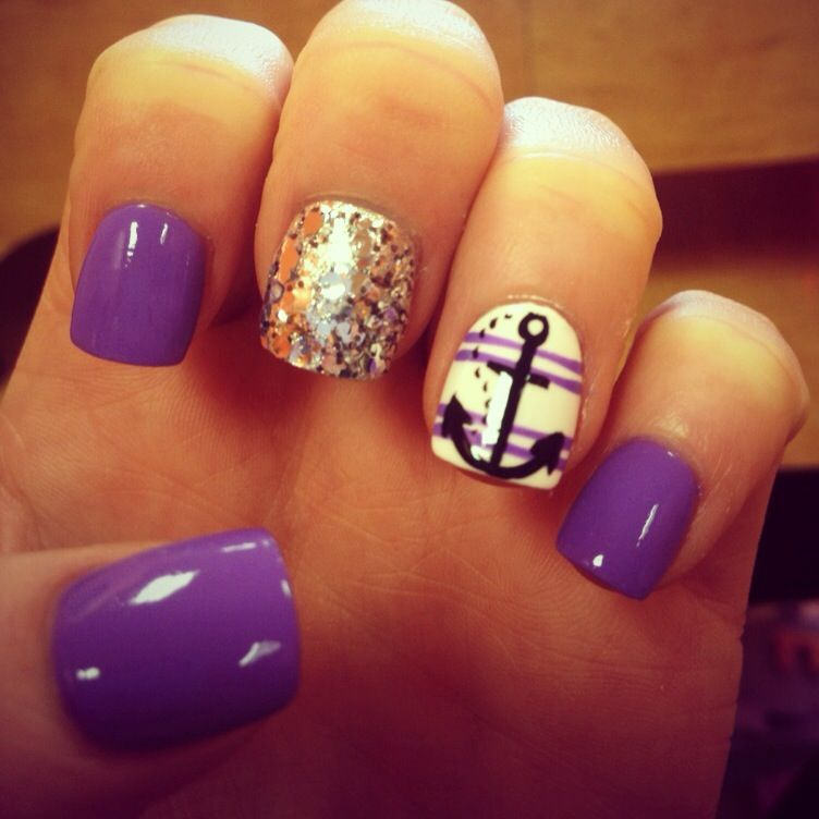 60 Cute Anchor Nail Designs - 60 Cute Anchor Nail Designs Anchor Nails, Nail Nail And Makeup