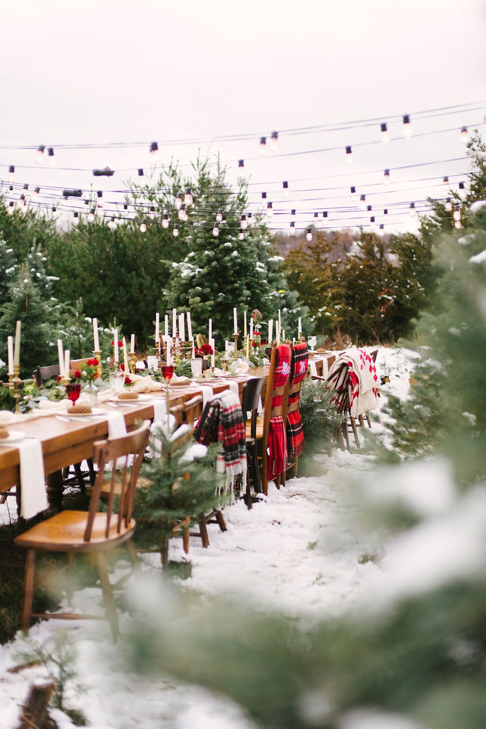 Christmas Tree Farm Weddings.Christmas Tree Farm Wedding Inspiration With Tradition