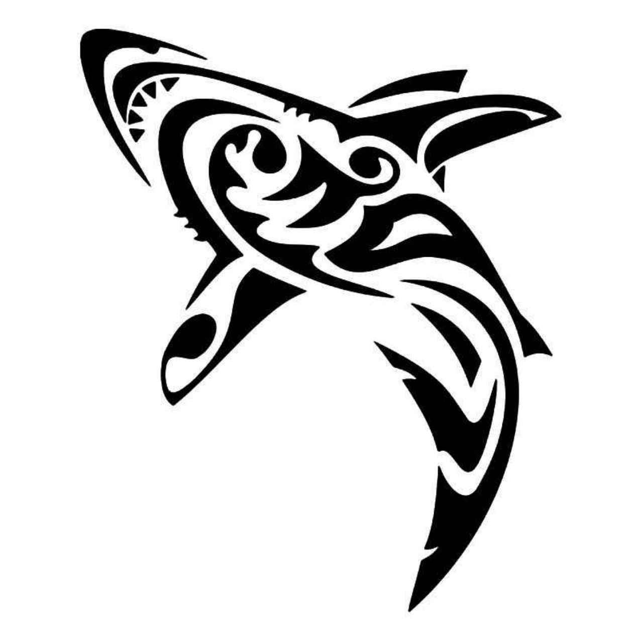 834f353dd Tribal Shark Fish 5 Vinyl Decal Sticker   Crafting to Cure The Soul ...