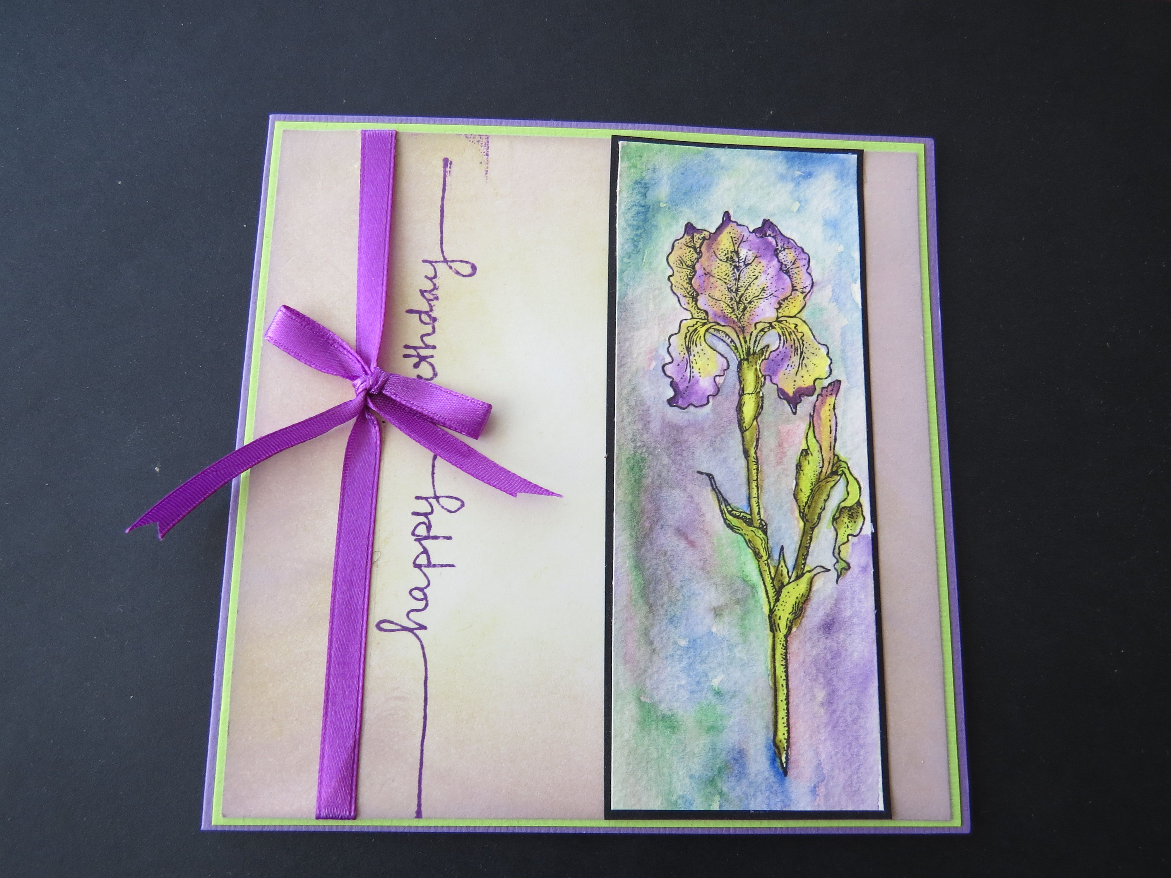 Watercolor Birthday Card Cards Just For Inspiration Pinterest