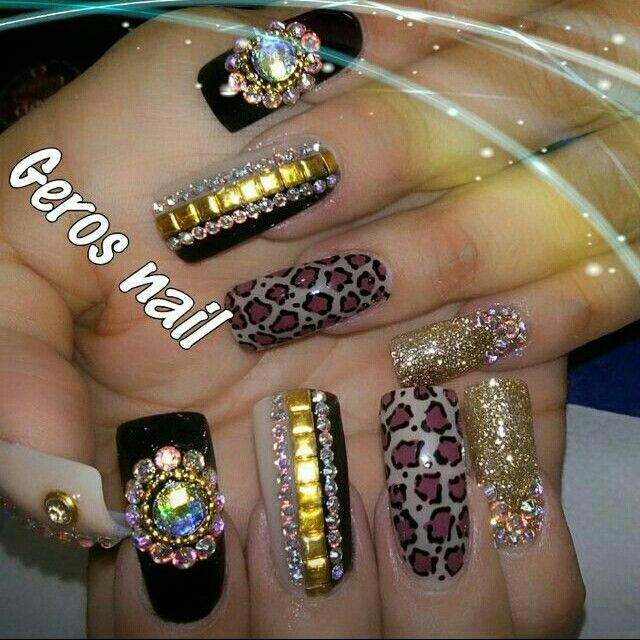 ✴〰Estilo sinaloa〰✴ | Nail design | Pinterest | Nail nail, Bling ...