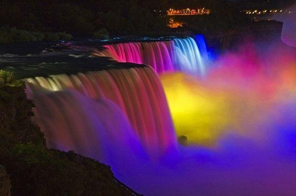 Fabulous Niagara Falls Light Show Niagara Falls At Night
