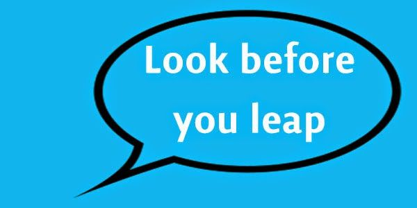 Look Before you Leap | MY Teacher Essay | Pinterest