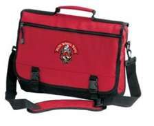 Greekgear Alpha Sigma Phi Messenger Briefcase Red