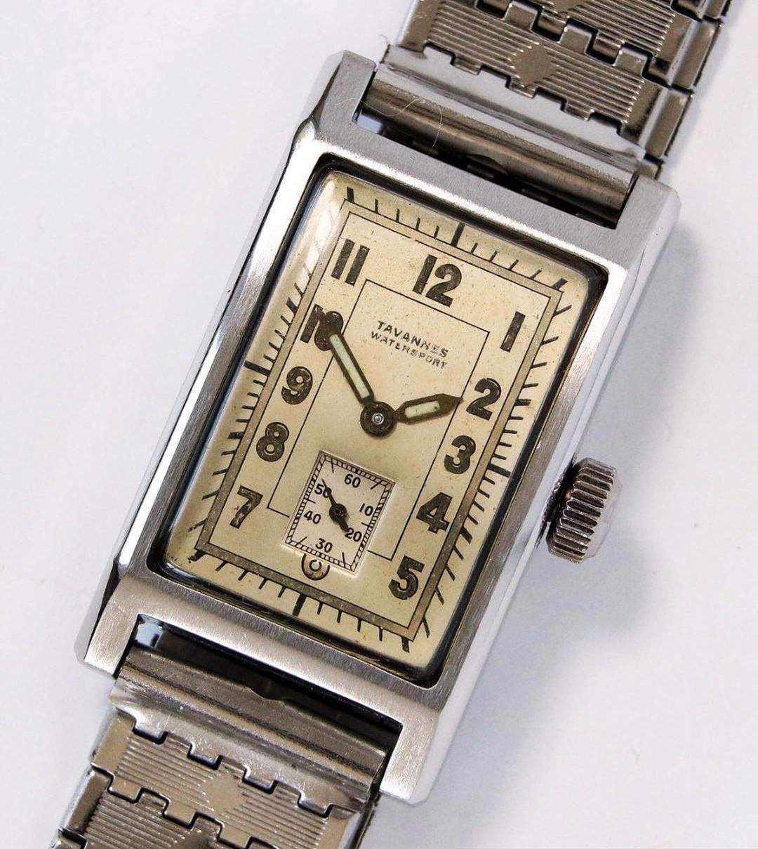 Things that inspire us  a rare 1930s Tavannes Watersport tank ... 101b2095a9