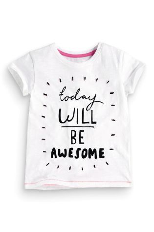 836a93e85f2762 Buy White Awesome T-Shirt (3-16yrs) from the Next UK online shop ...